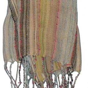 unknown Accessories - 😸5/$25 Muted Pastel Striped Scarf Artsy Colors